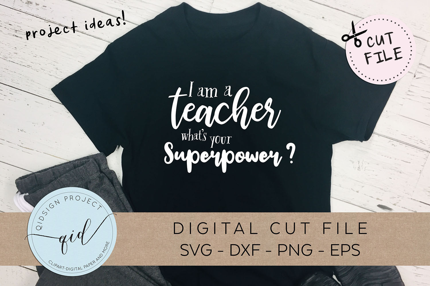 I am a teacher what's your superpower SVG DXF PNG EPS example image 2