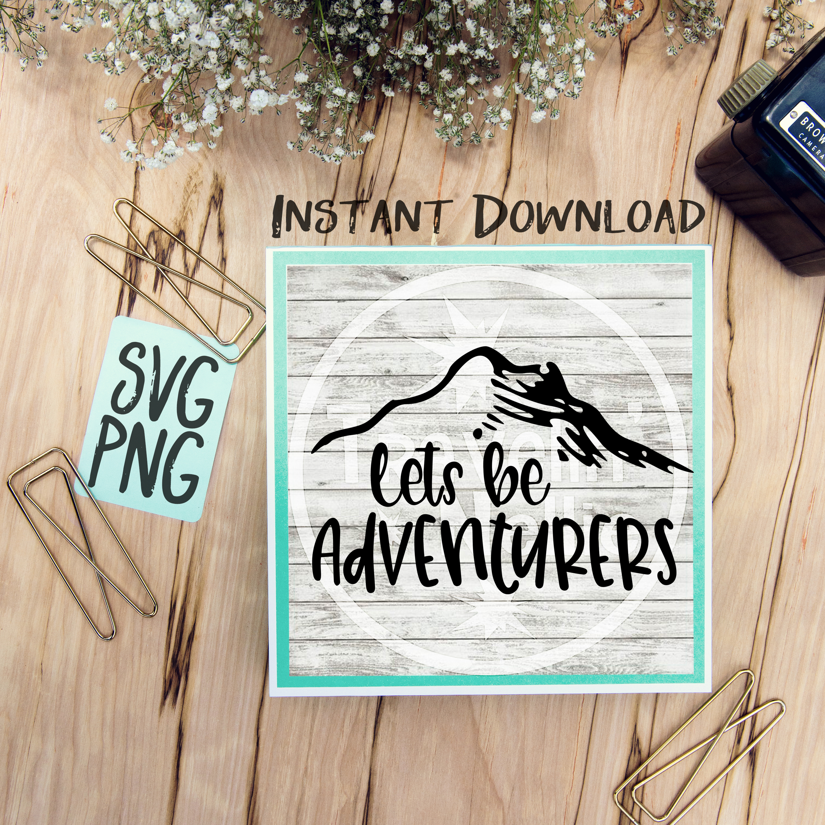 Lets Be Adventurers SVG PNG Cricut Cameo Silhouette Brother Scan & Cut Crafters Cutting Files for Vinyl Cutting Sign Making example image 1