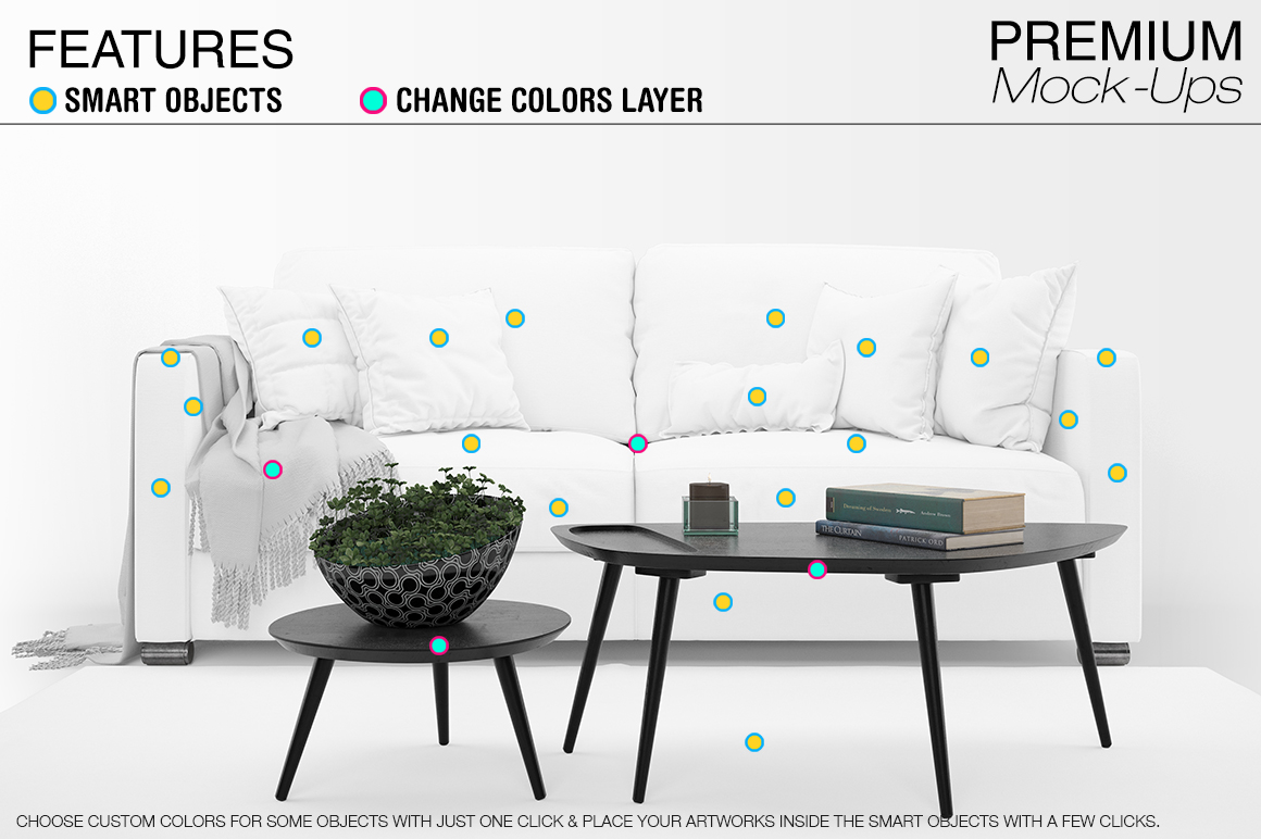 Sofa & Pillows Pack example image 3