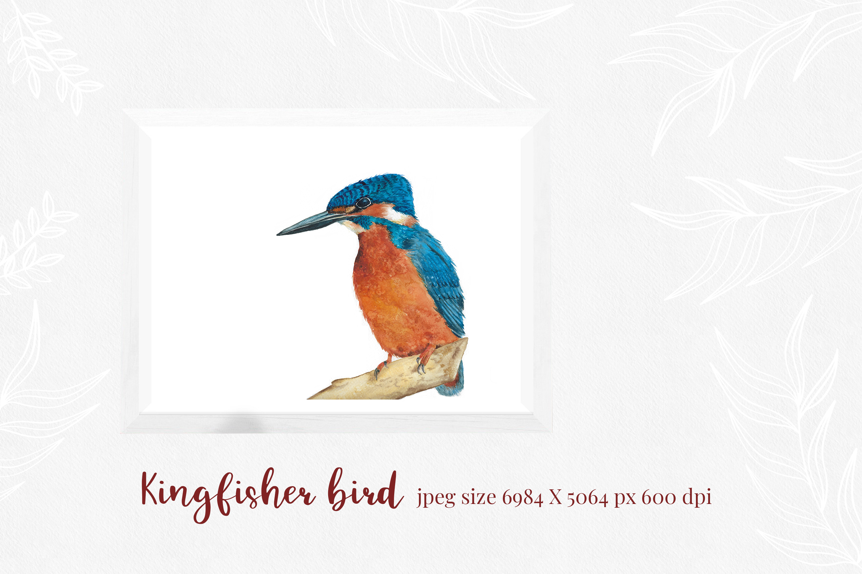 Kingfisher, modern calligraphy font example image 3