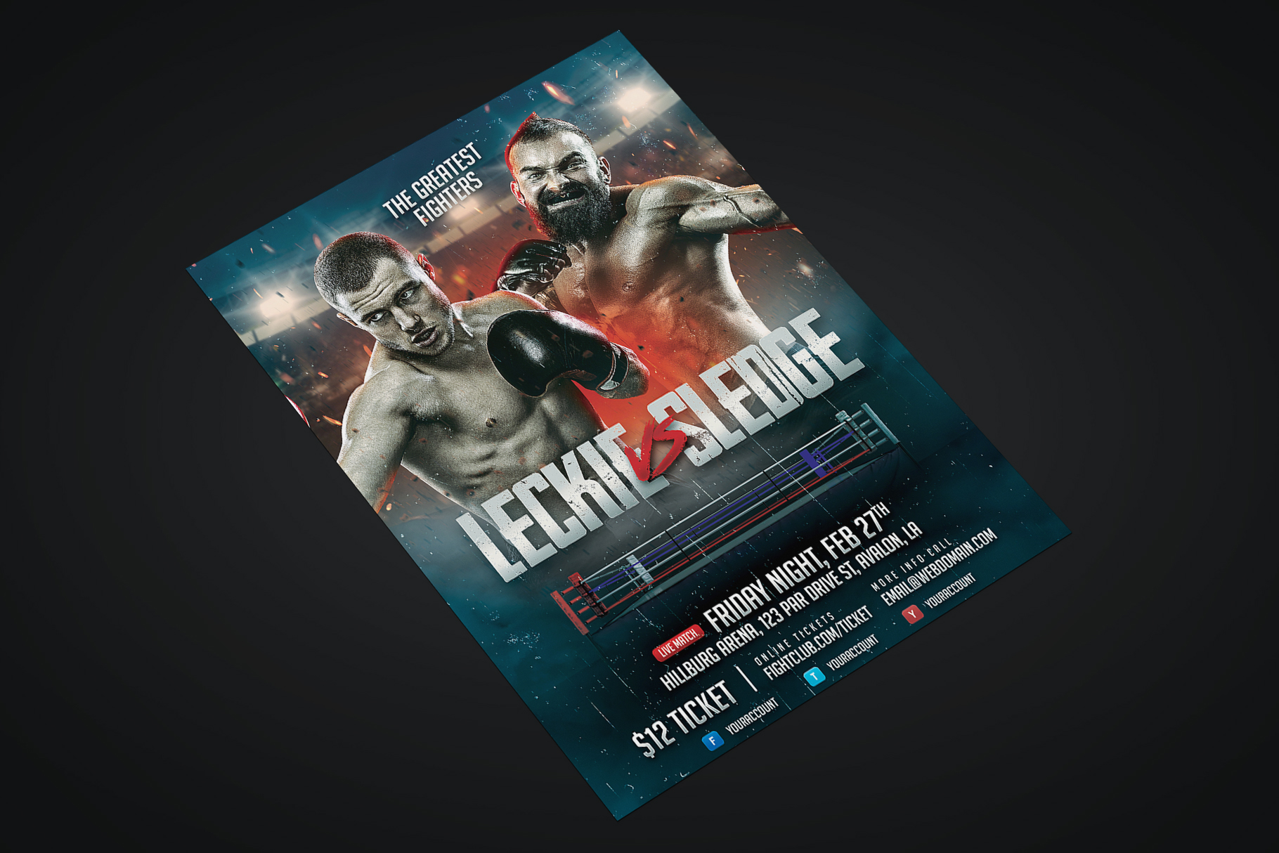 Boxing Flyer Template example image 2