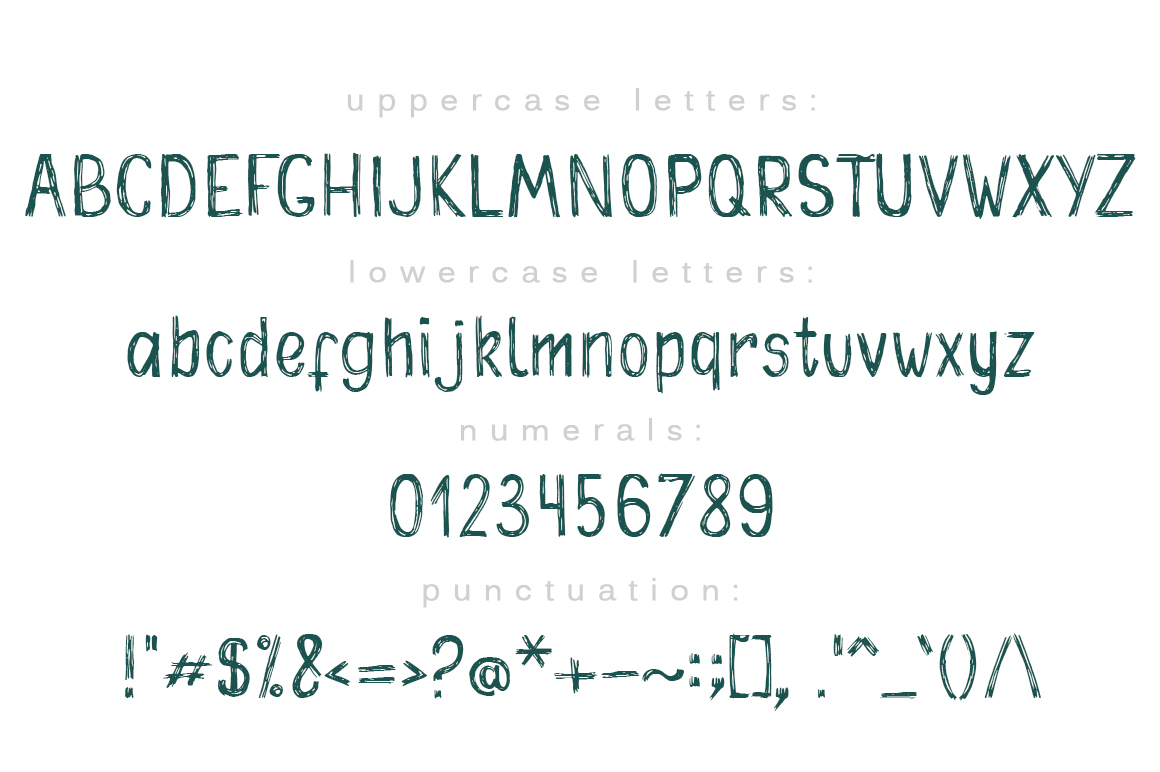 Shriftok typeface font painted by ink and pen example image 3