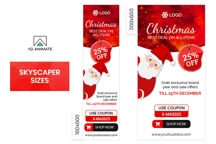 Christmas Sale Animated Ad Banner Template example image 3