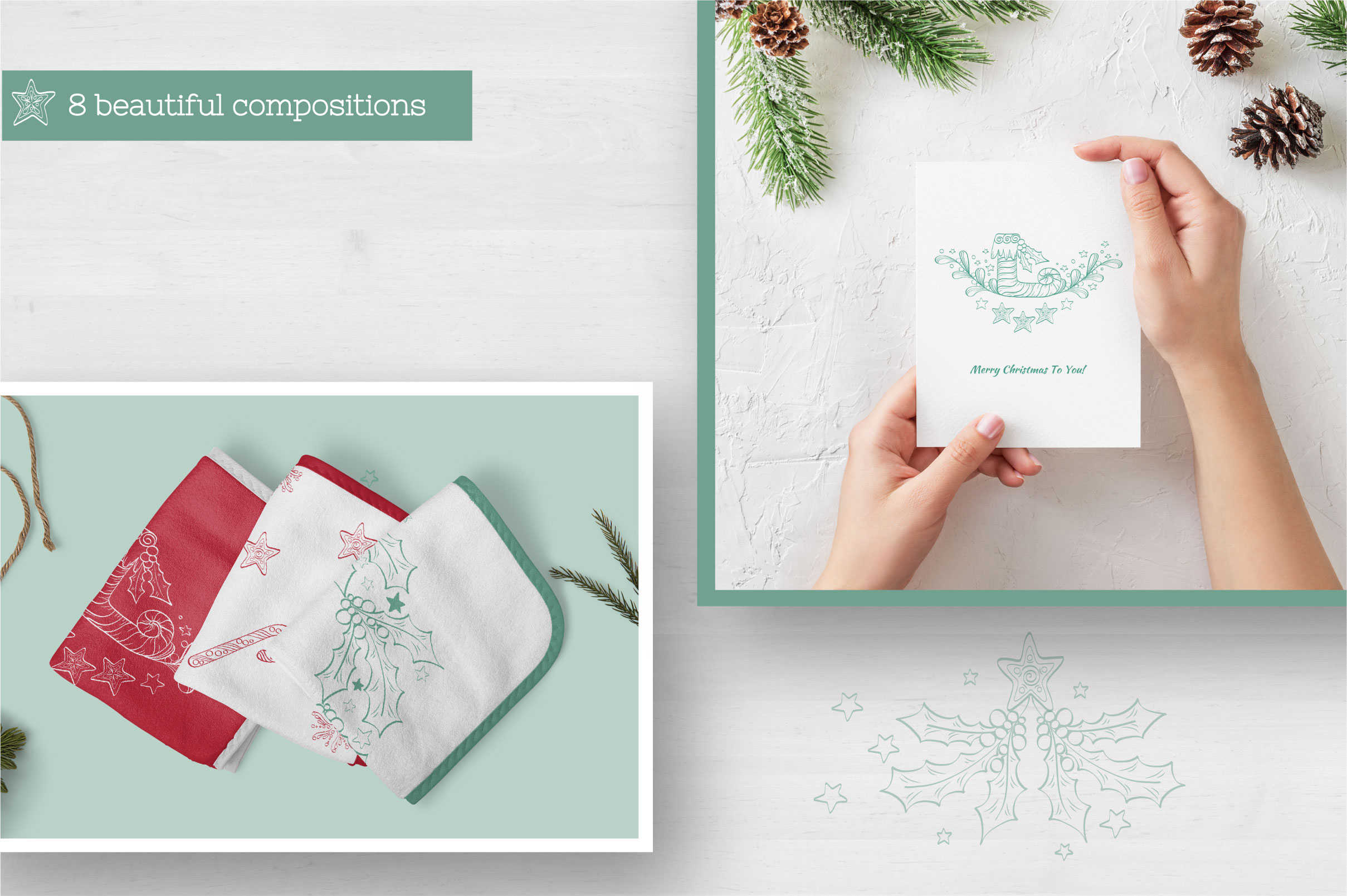 Doodle Christmas Vector Collection example image 7