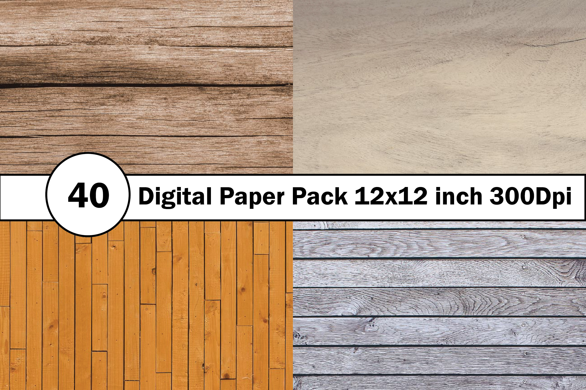 40 Digital Paper Pack 12x12 inch 300 Dpi example image 3