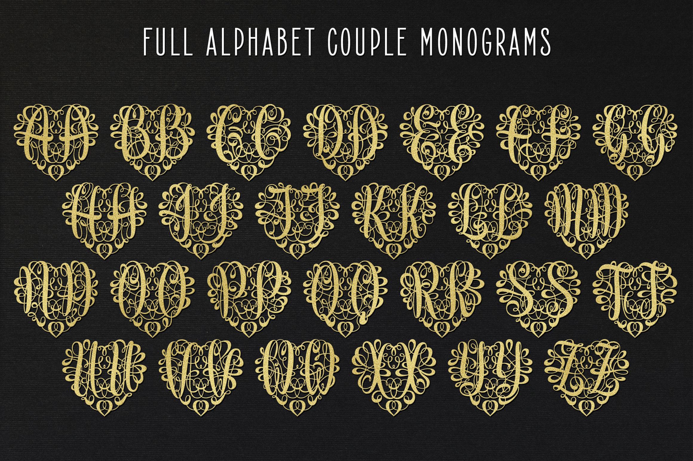 Monogram Script | Full Alphabet Single & Couple Monograms example image 7