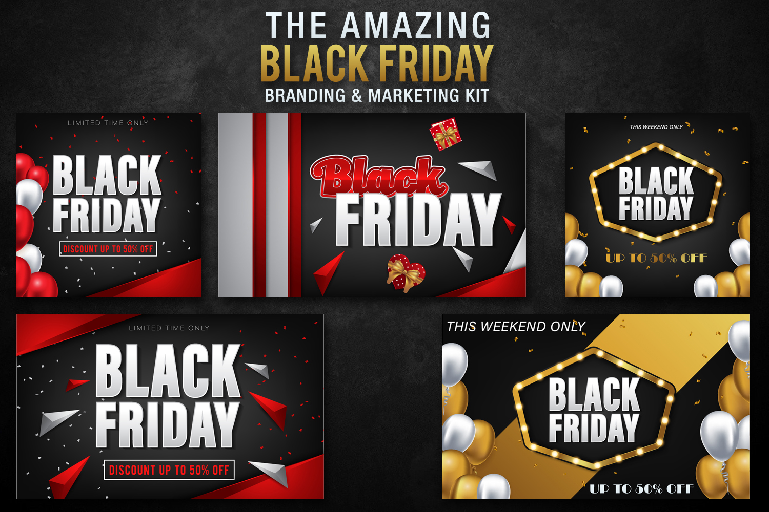 Black Friday Templates Vol 1 example image 2
