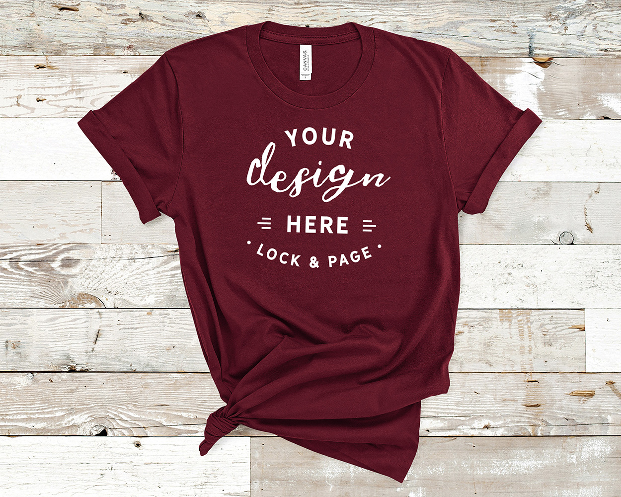 Bella Canvas 3001 Mockup T-Shirt Bundle All Colors On Wood example image 8