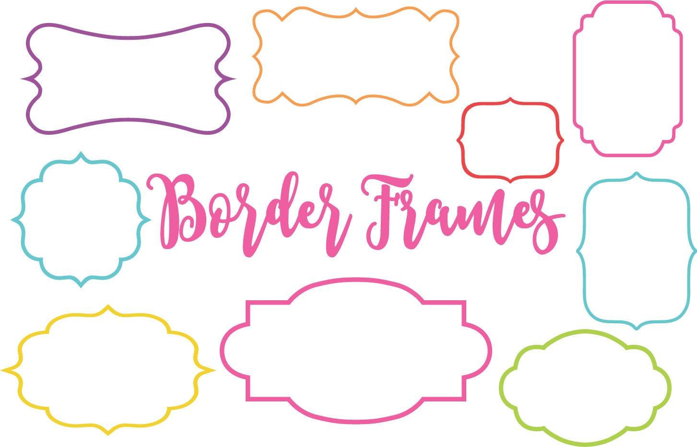 Border Frames Clip Art Set