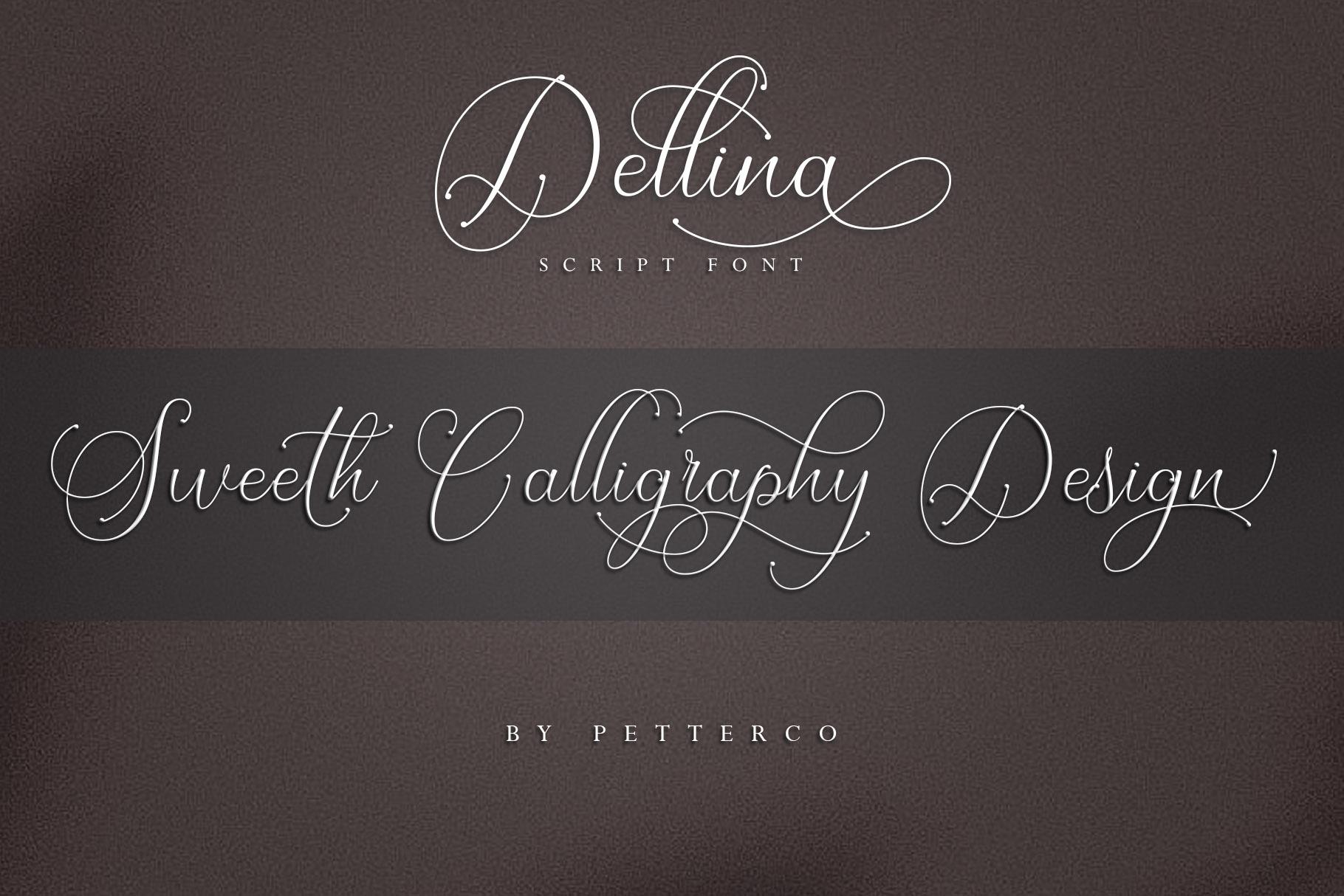 Dellina Script example image 7