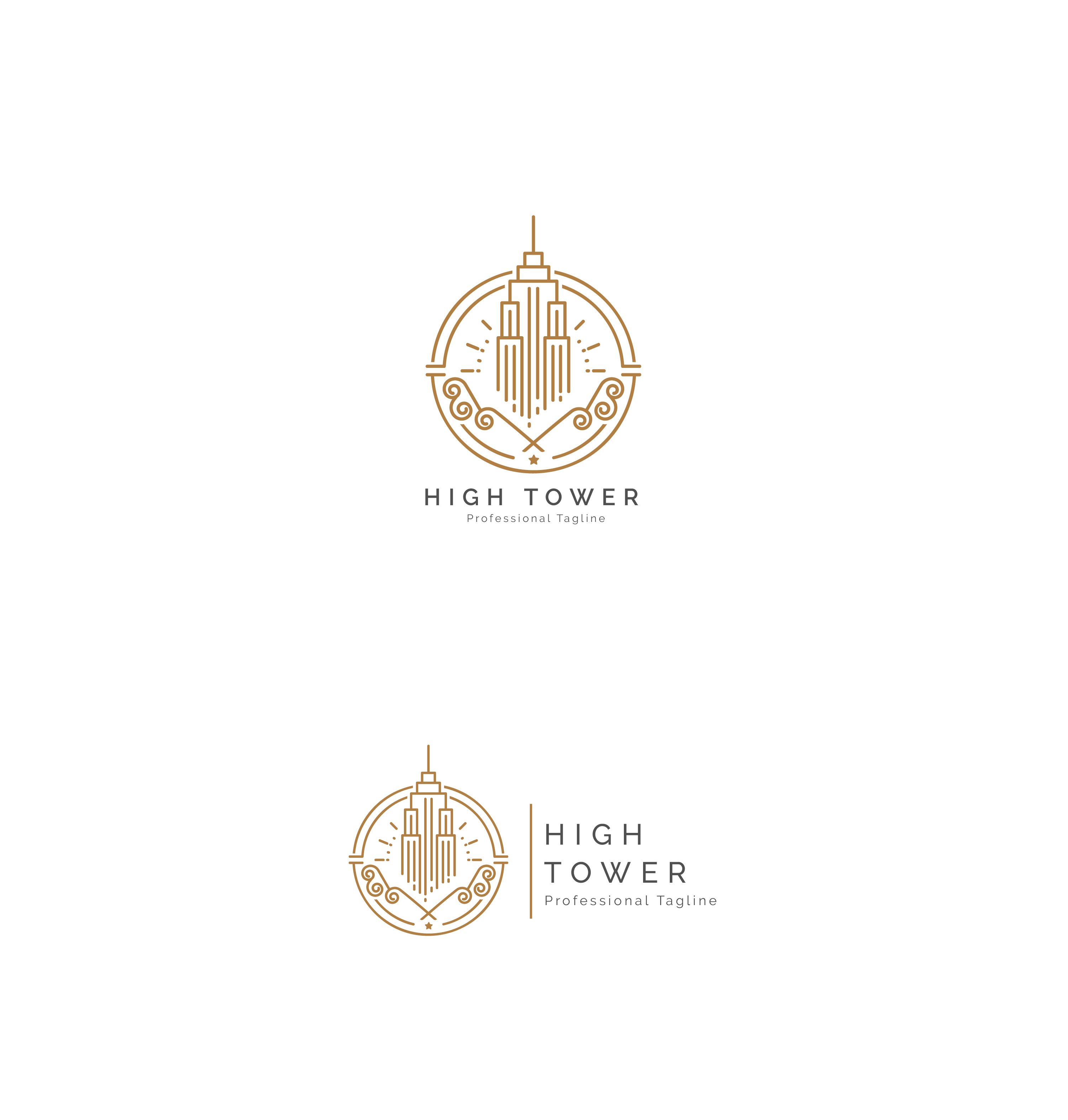 High Tower Logo - Construction Building Logo example image 3