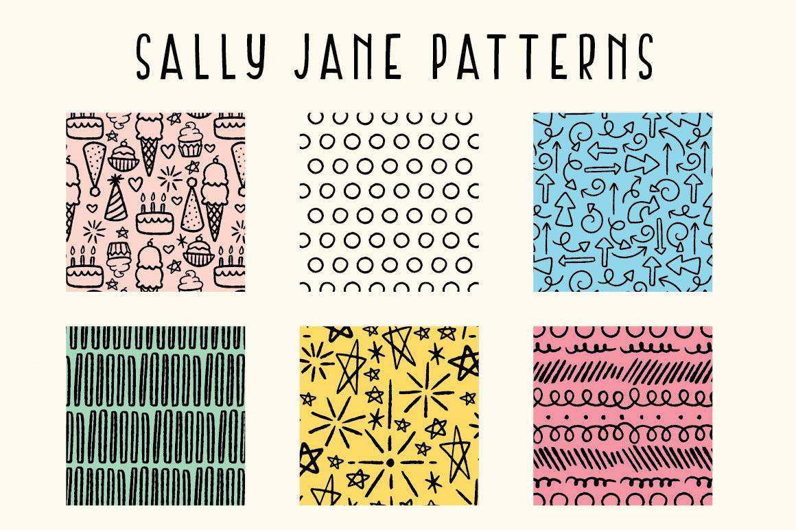 Sally Jane San Serif Font Trio example image 3