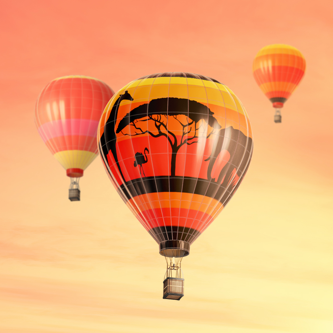 Hot Air Balloon Mockup example image 5