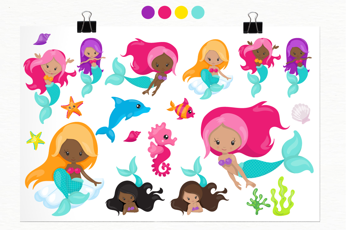 Mermaid Vibes graphic and illustrations example image 2