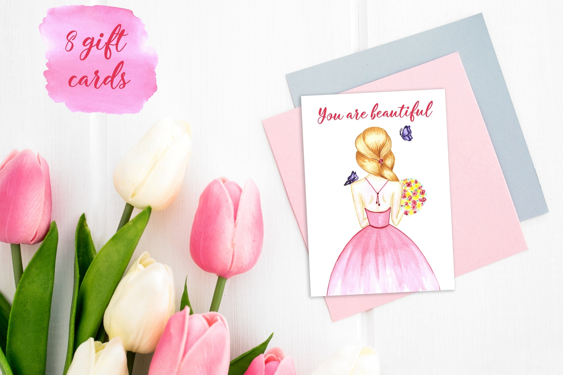 Women's day Card. 8 March example image 3