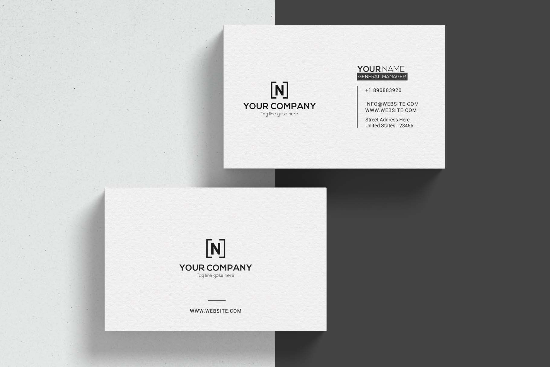 Minimal Business Cards example image 2