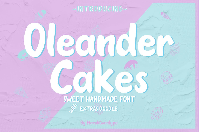 Oleander Cakes - Sweet Handmade Font example image 1