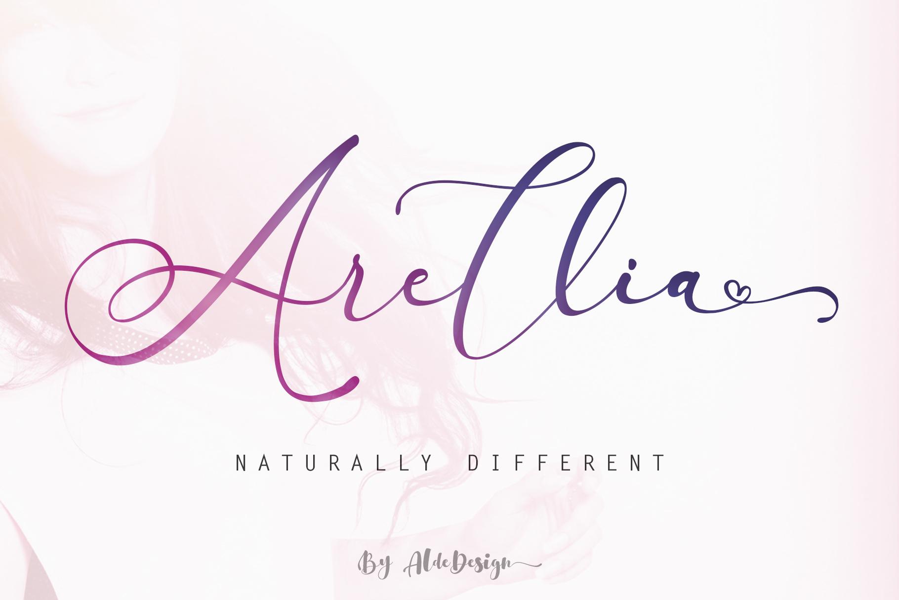 Arellia Script // Luxury Font example image 1