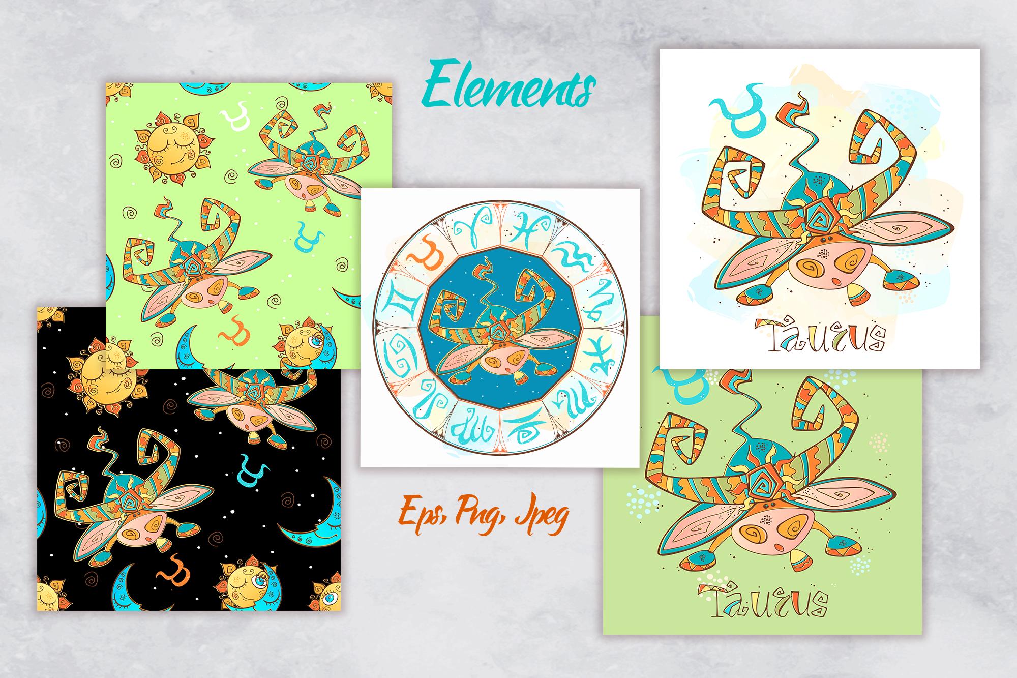 Taurus zodiac sign. For children.  example image 2