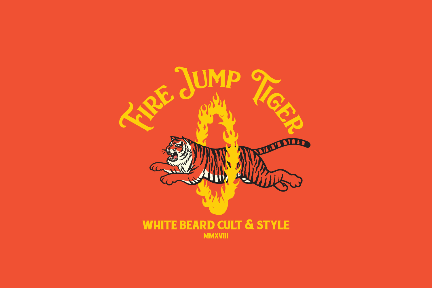 Fire Jump Tiger Logo Template example image 5