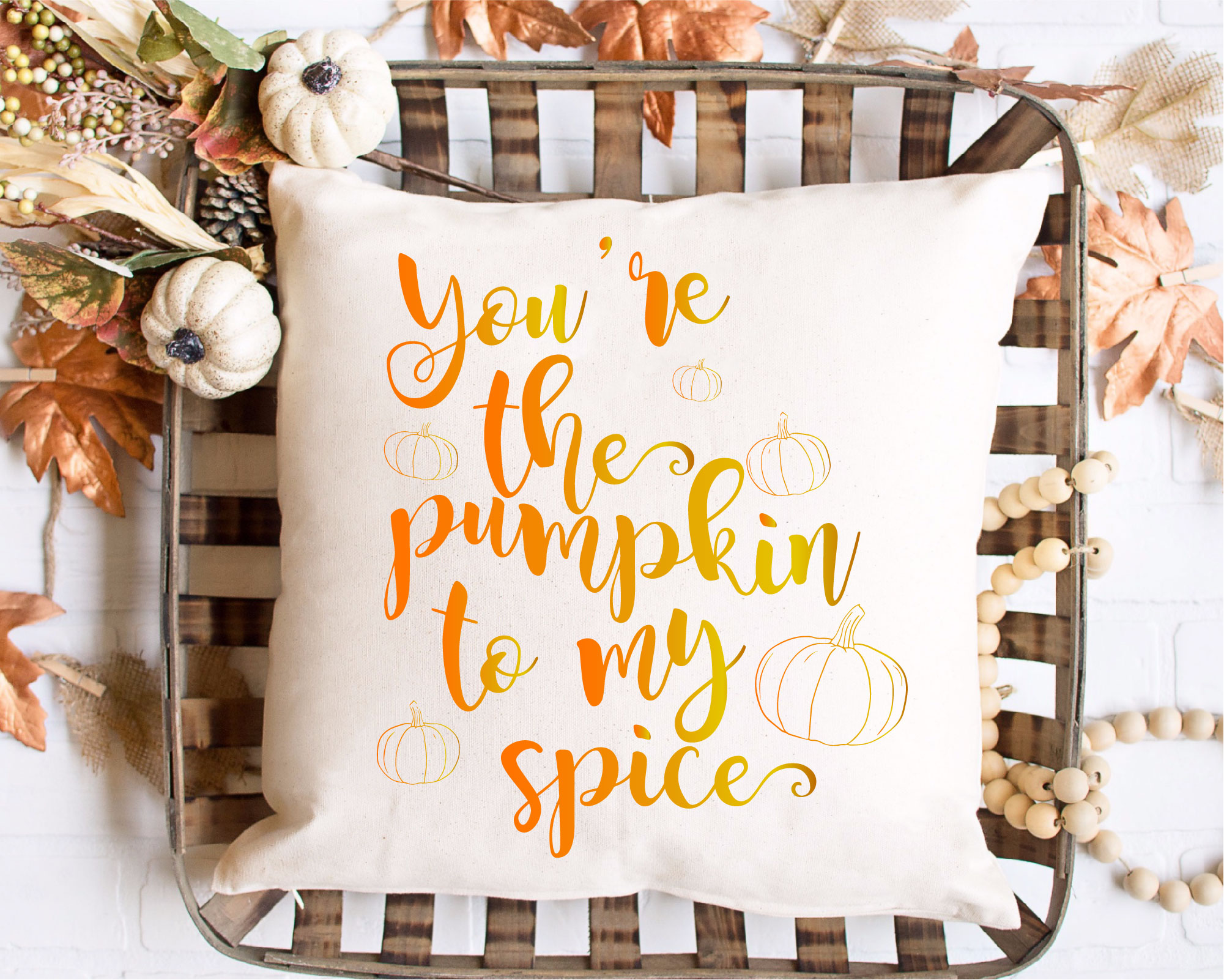 You Are The Pumpkin To My Spice SVG Sublimation, Halloween example image 2