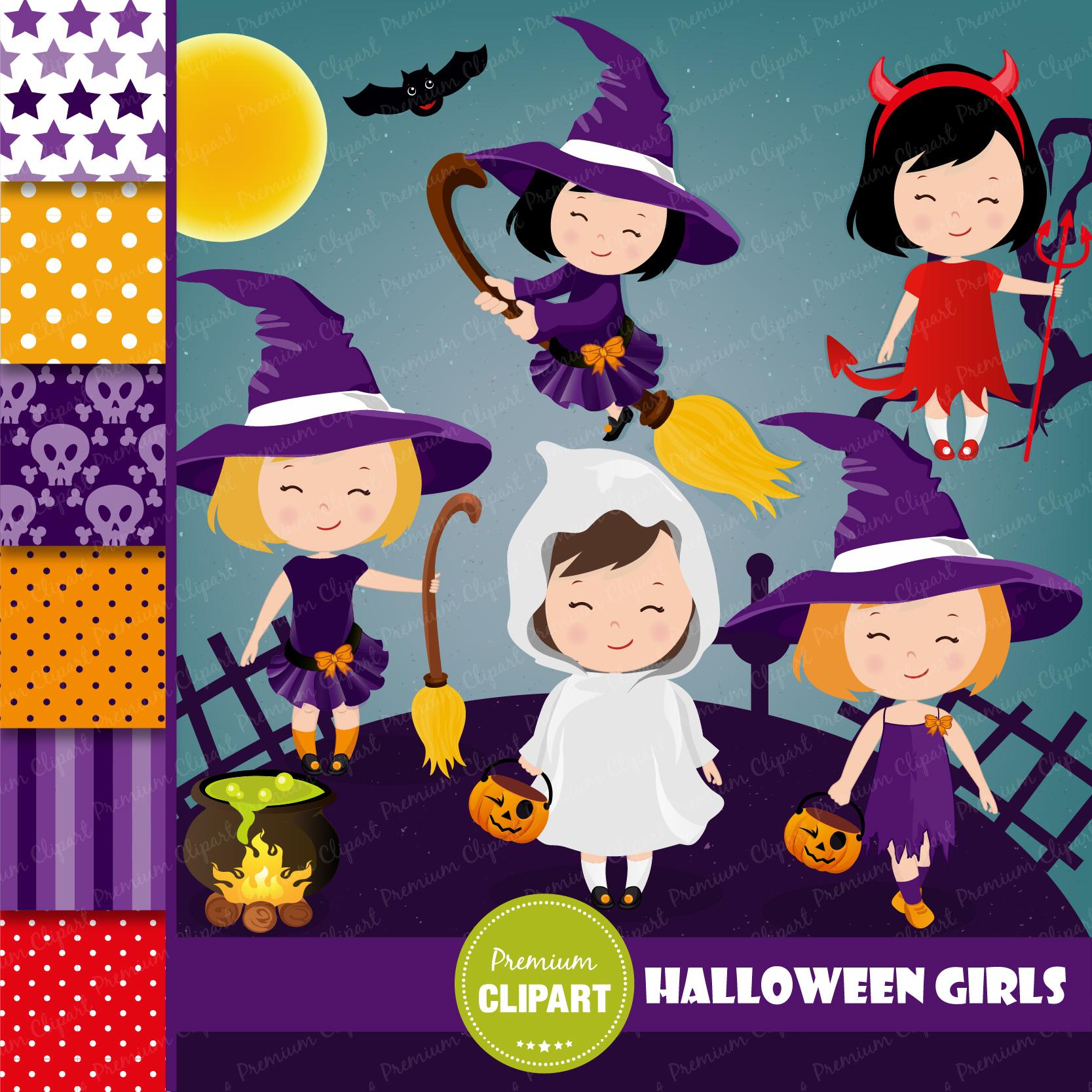 Halloween bundle, Halloween illustrations example image 18