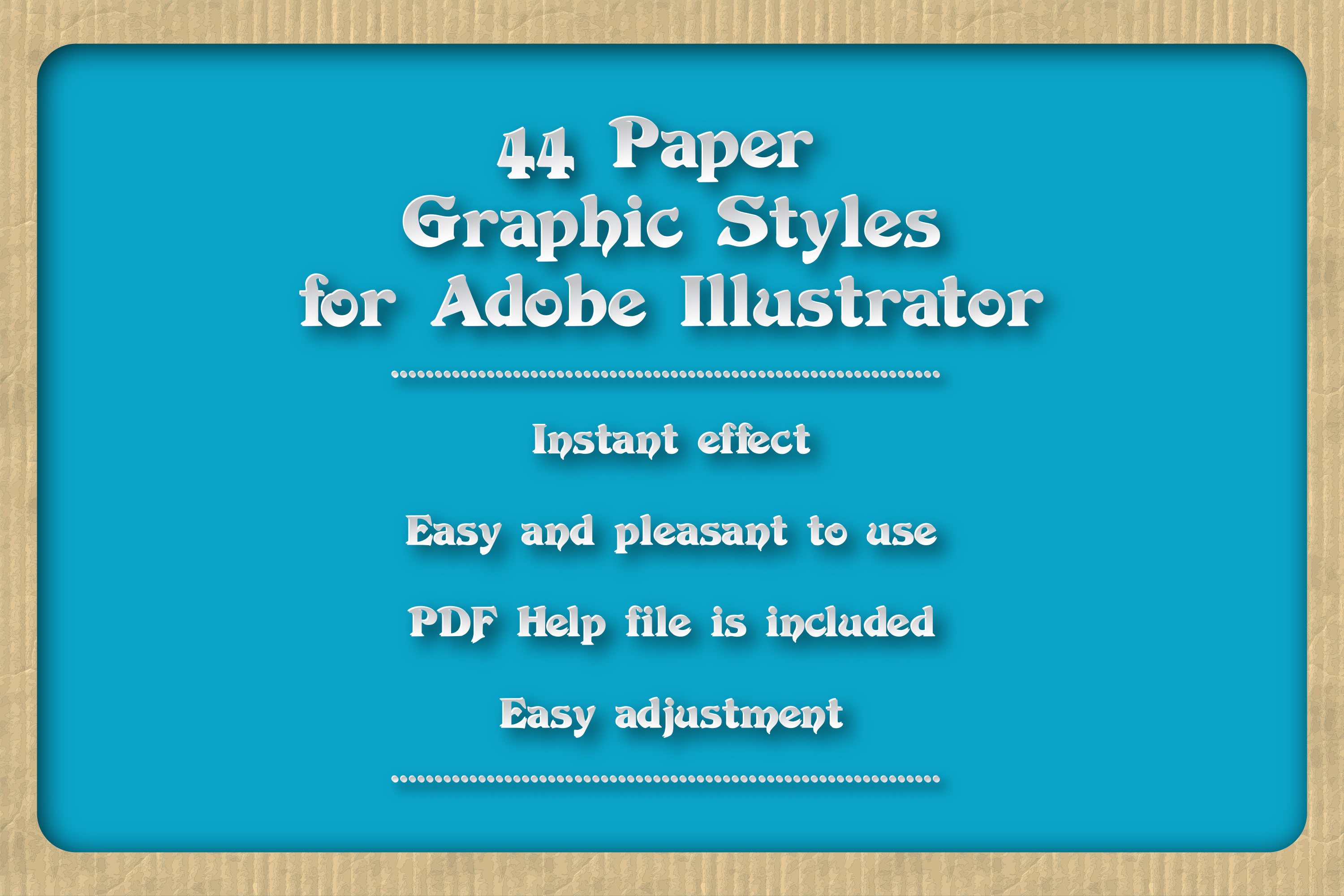 44 Paper Adobe Illustrator Graphic Styles example image 1