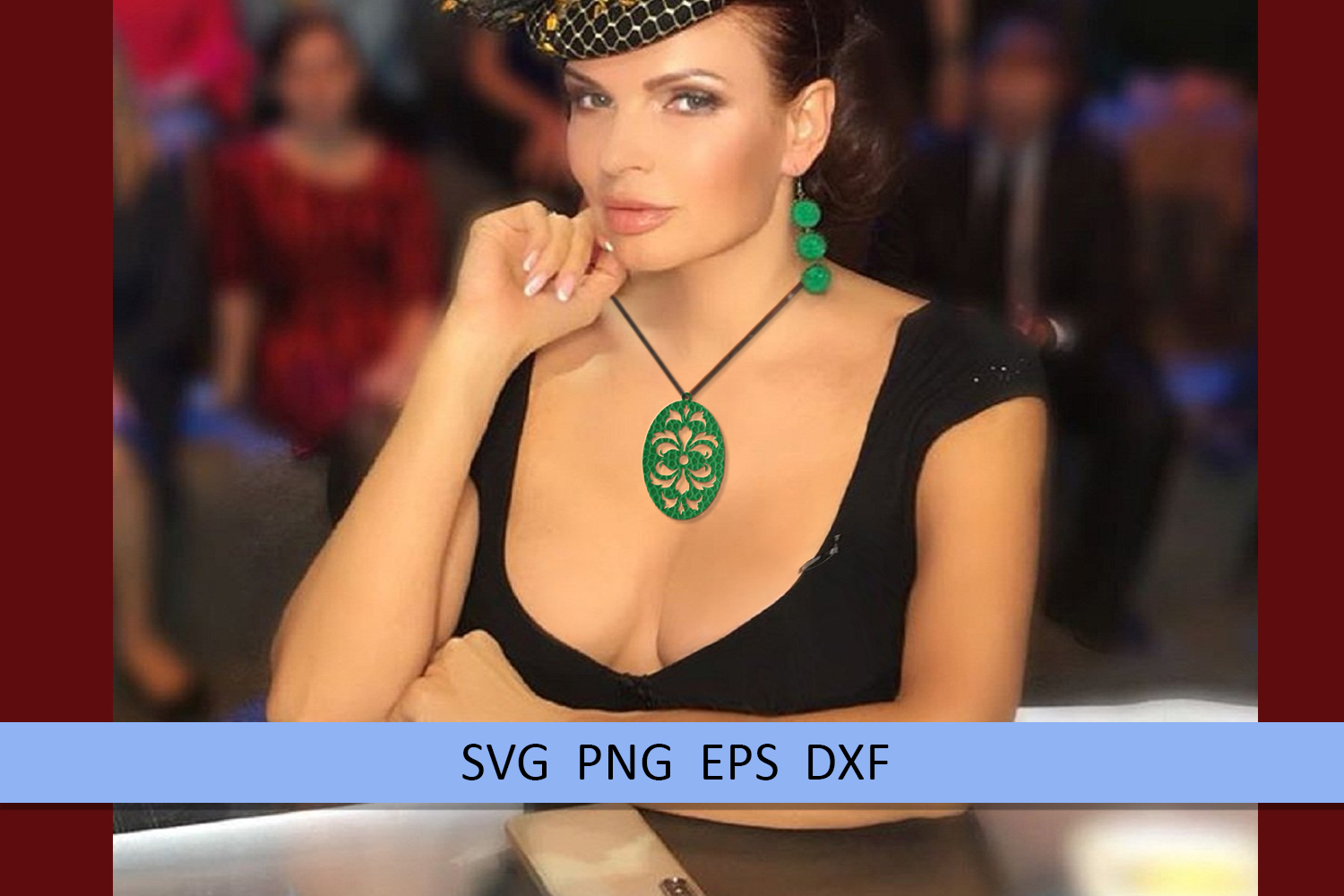 9 Damask earrings svg Leather earrings svg Necklace svg example image 7