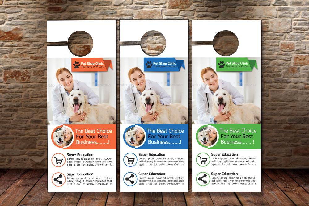 Pet Clinic Door Hangers example image 3