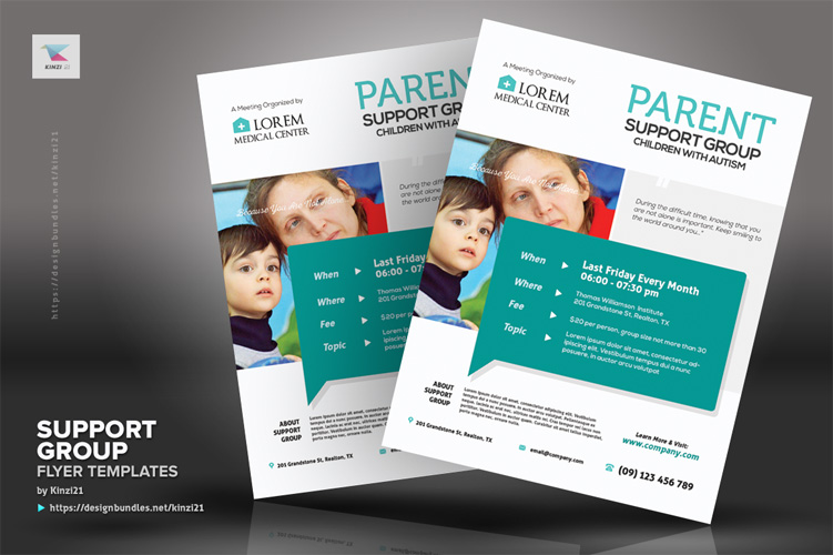 Support Group Flyer Templates example image 2