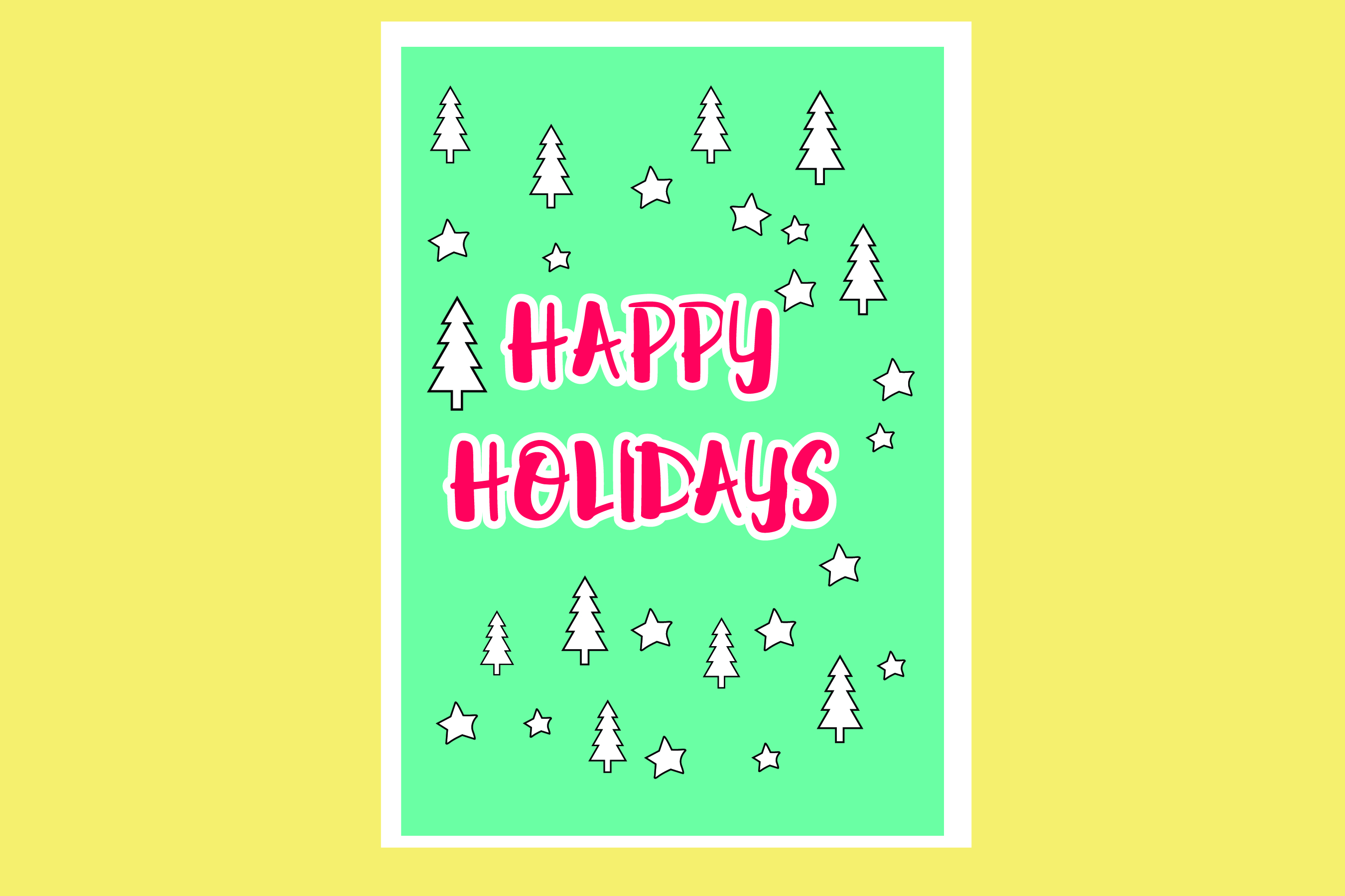 AA25-Christmas Greetings cards 6 Designs - SVG Bundle example image 5