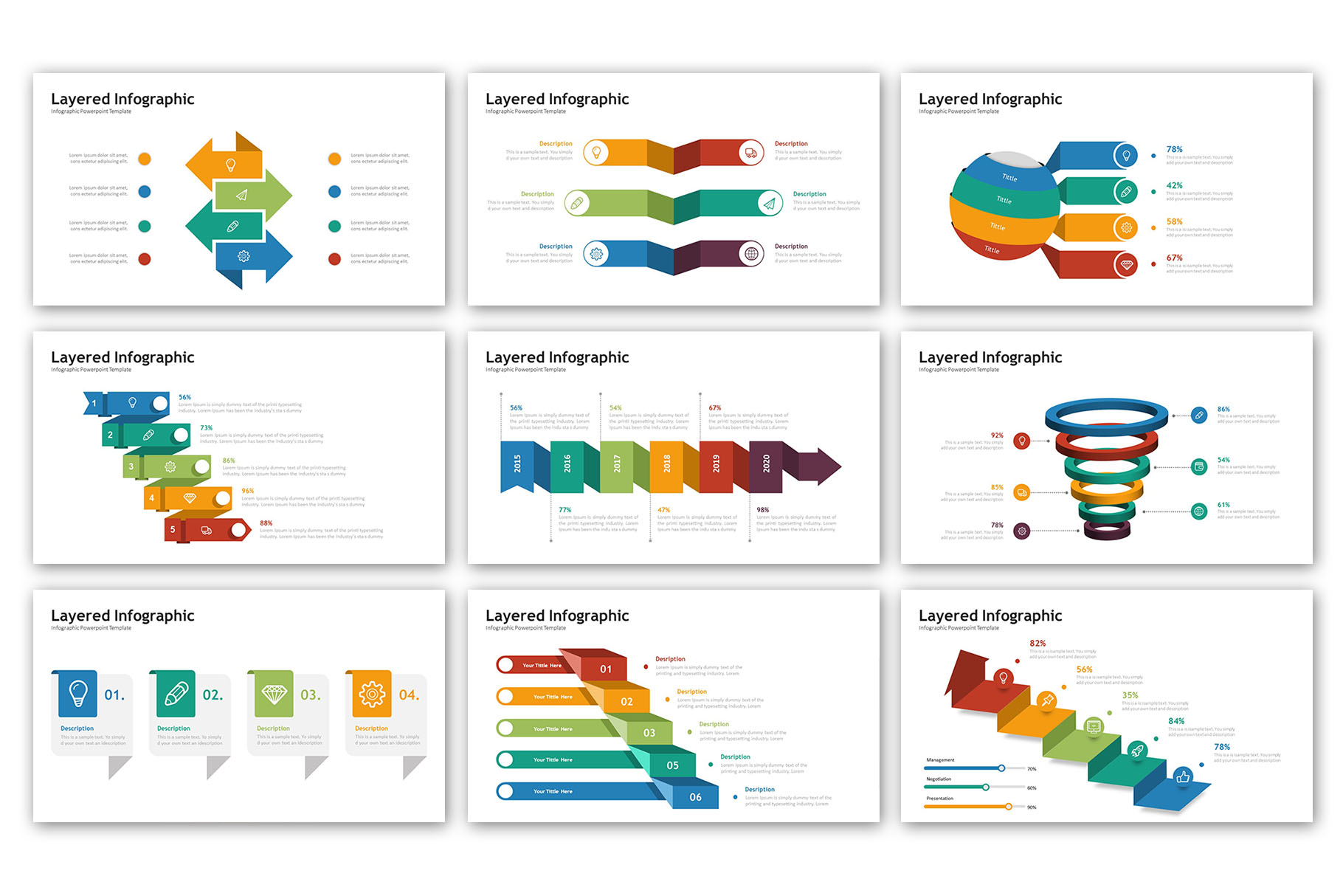 Layered Presentation - Infographic Template example image 5