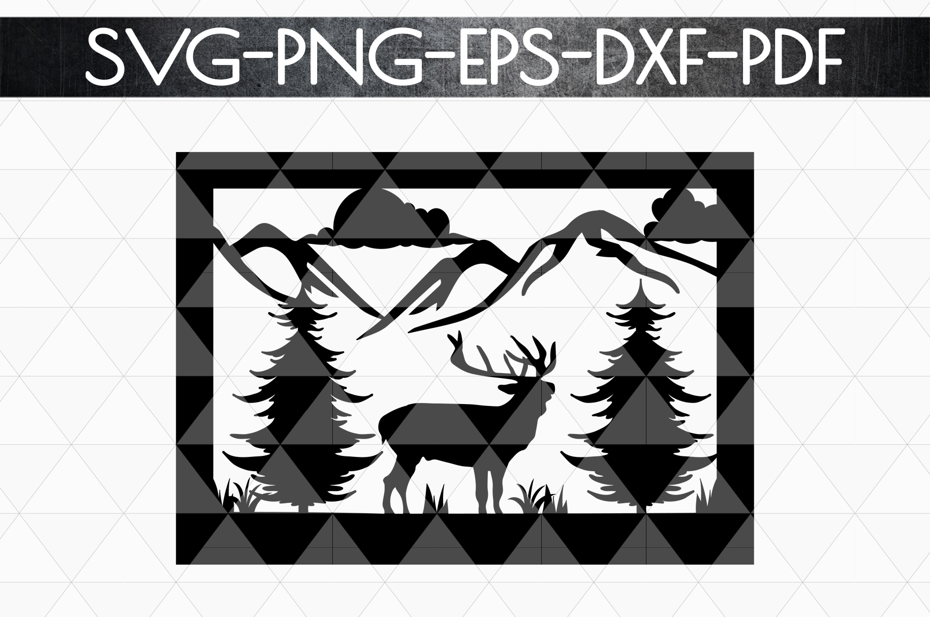 Wild Life Papercut Template, Woodland Adventure Scenery SVG example image 4