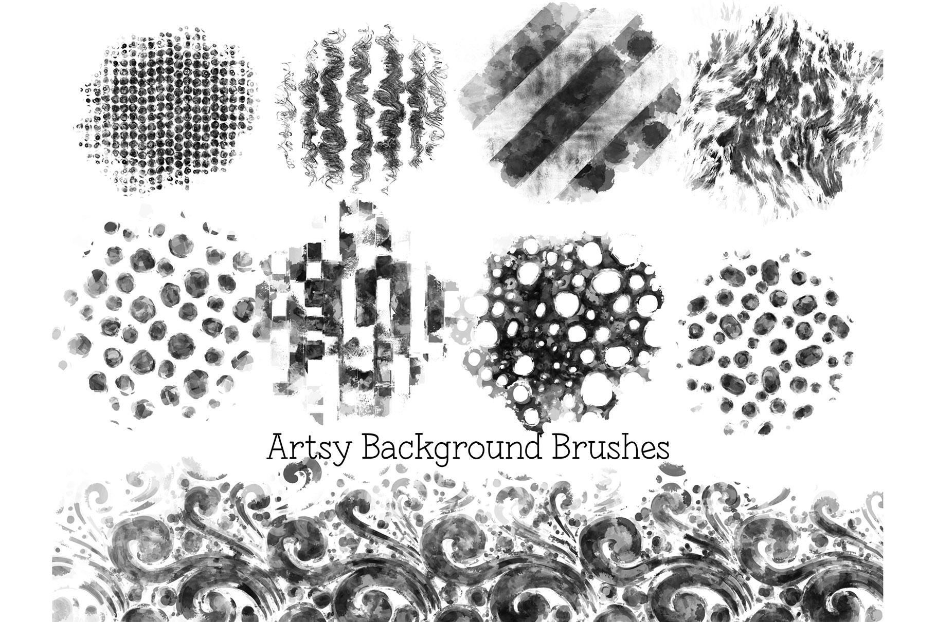 Procreate Background Brushes Set 2 example image 5