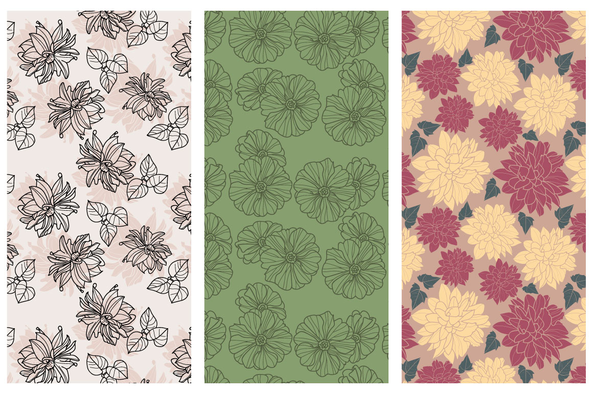 50 hand drawn floral elements example image 3