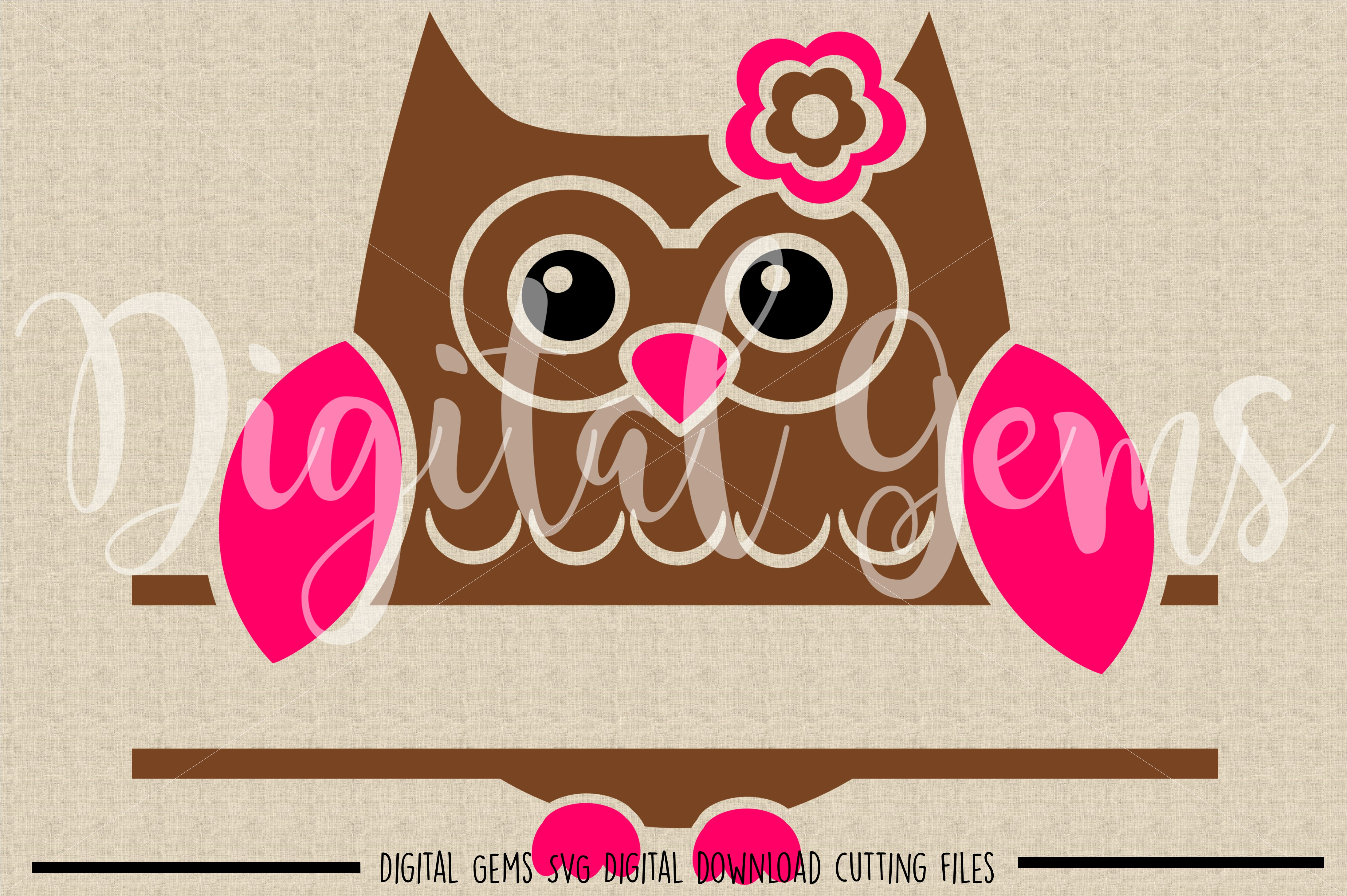 Split Owl SVG / DXF / EPS / PNG files example image 2