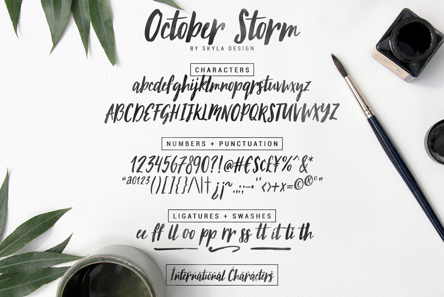 Modern brush font - October Storm example image 5