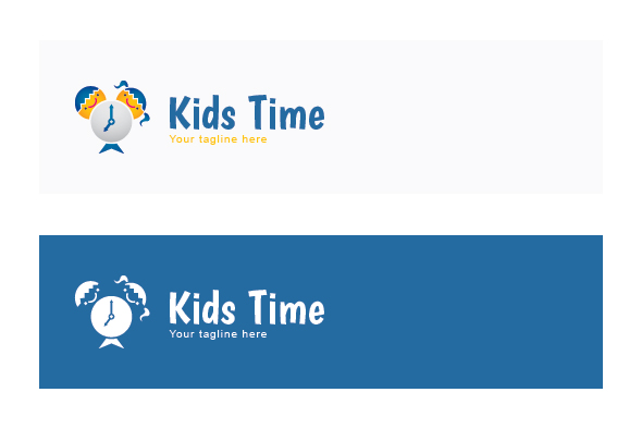 Kids Time - School Kids Stock Logo Template example image 2