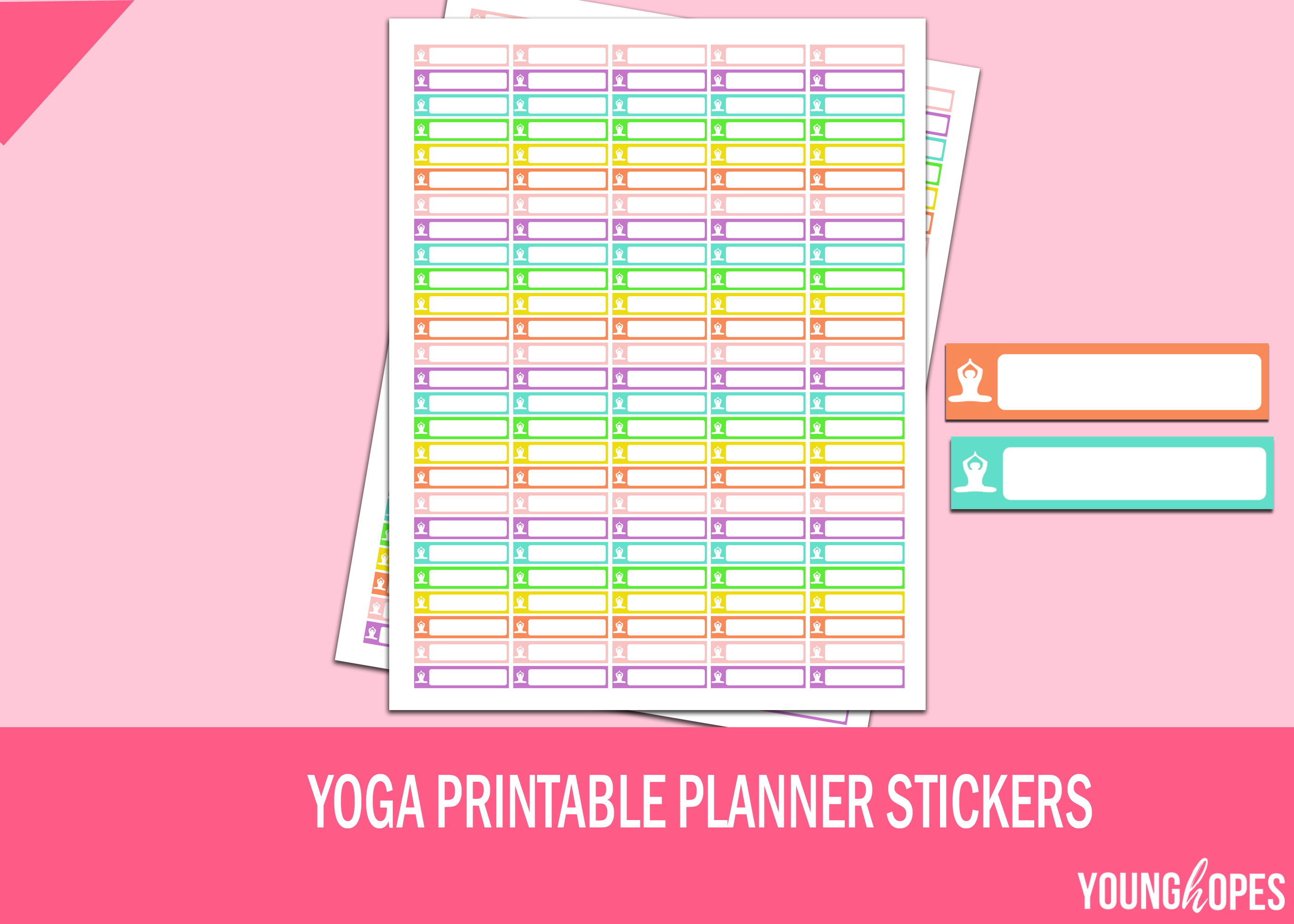 Yoga Planner Stickers Printable Stickers example image 2