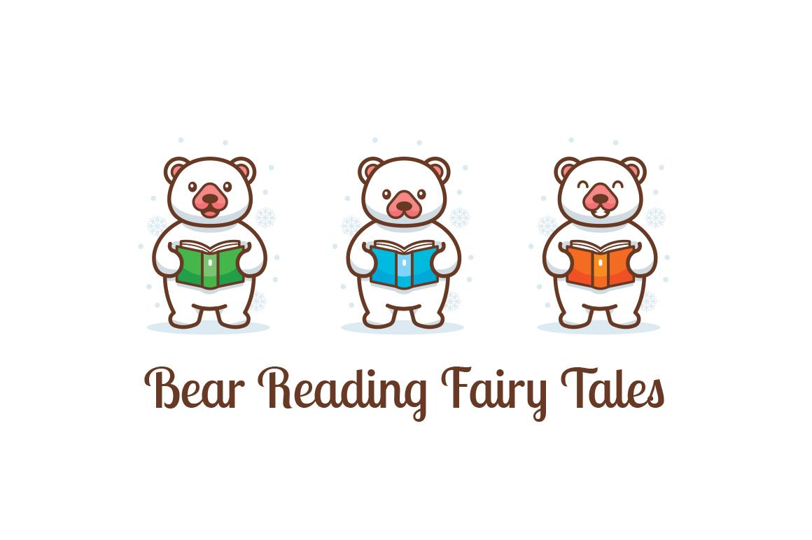 Bear reading fairy tales clipart example image 1