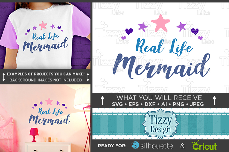 Real Life Mermaid SVG File - Mermaid SVG - 1064 example image 1
