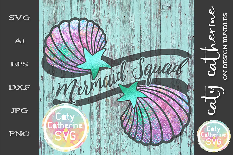 Mermaid Squad SVG Cut File example image 1