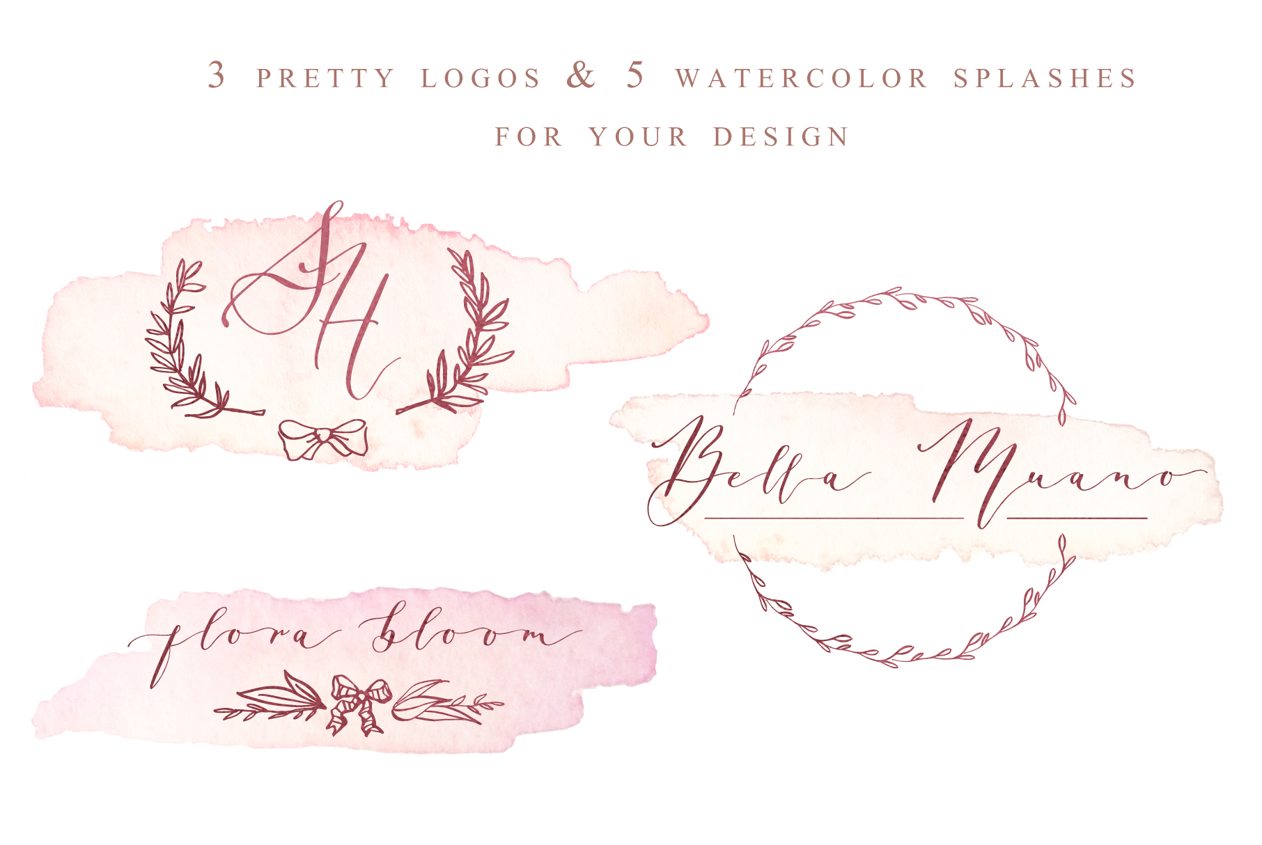 Donna Lucia font + Extras & Logo example image 14