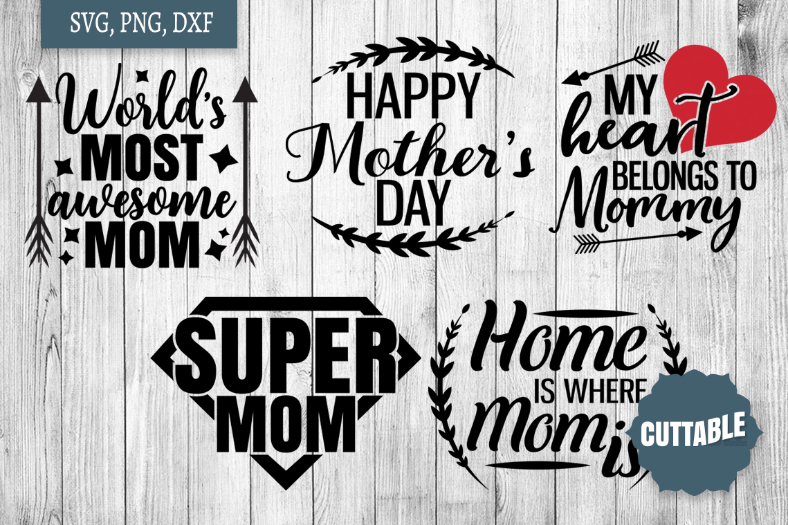 Mom cut file bundle, Mother's day svg, Mom svg cut files example image 3