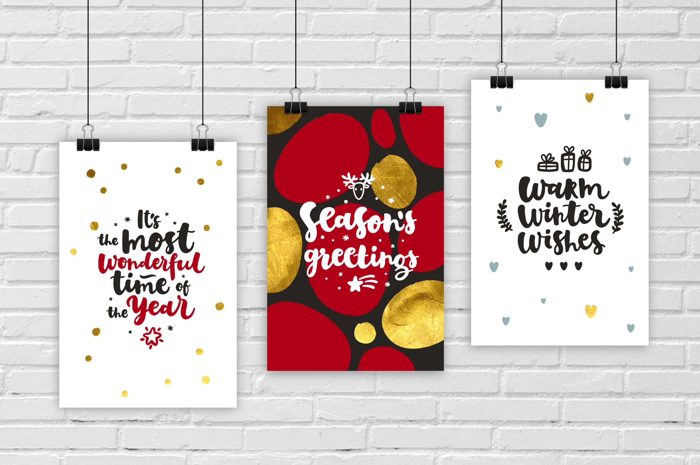Merry Christmas Vector Set example image 4