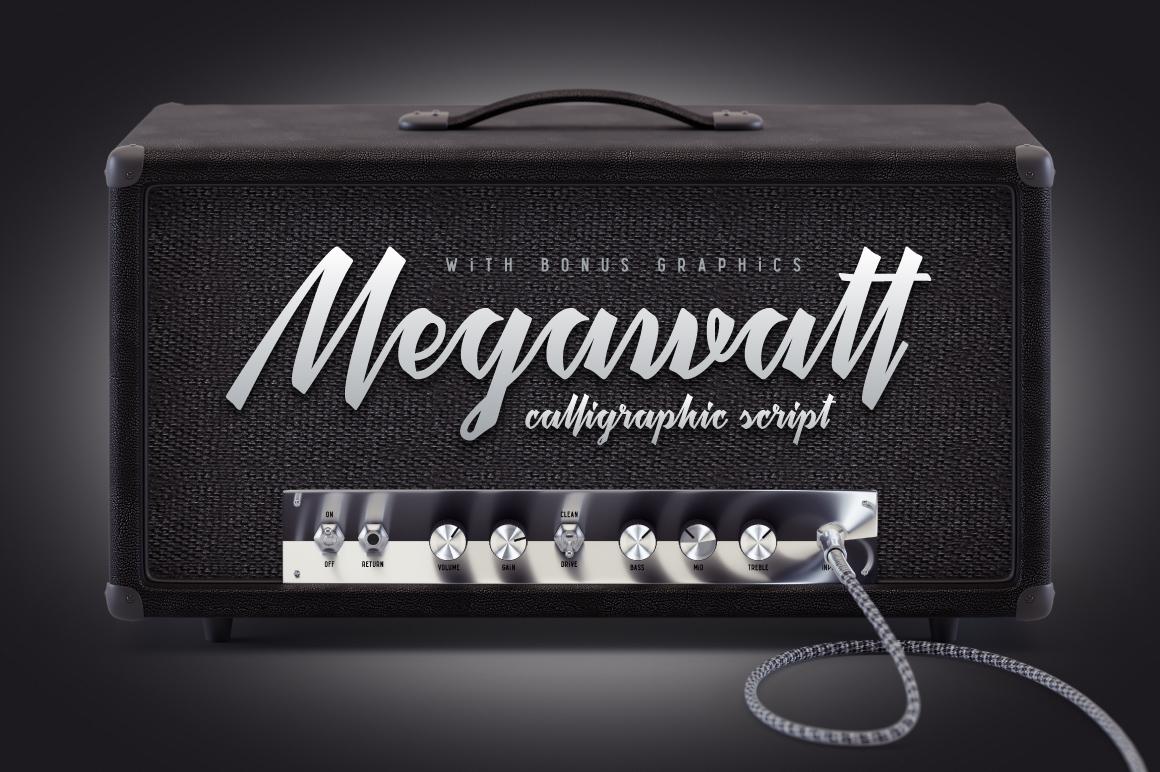 Megawatt font + Bonus example image 1