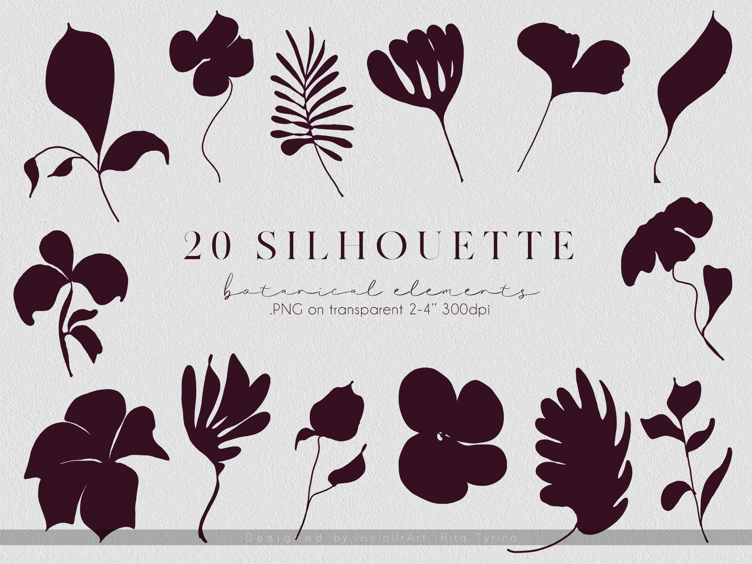 One Line Floral Clipart - Linear Art example image 7