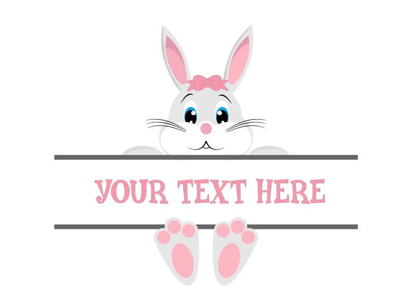 Easter Bunny Svg, Easter Monogram Svg,Easter Svg example image 3