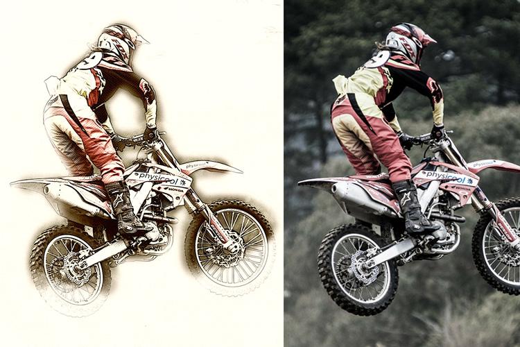 Mix Art Photoshop Action example image 8