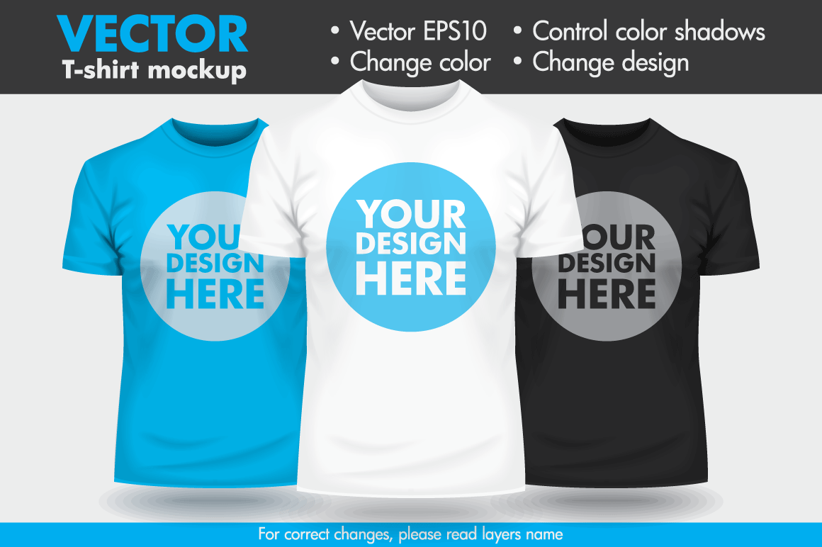 Vector T Shirt Mock Up Mockup Template